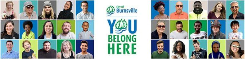 "Multiple faces of people of different ages, cultures, occupations with text ""You Belong Here"""