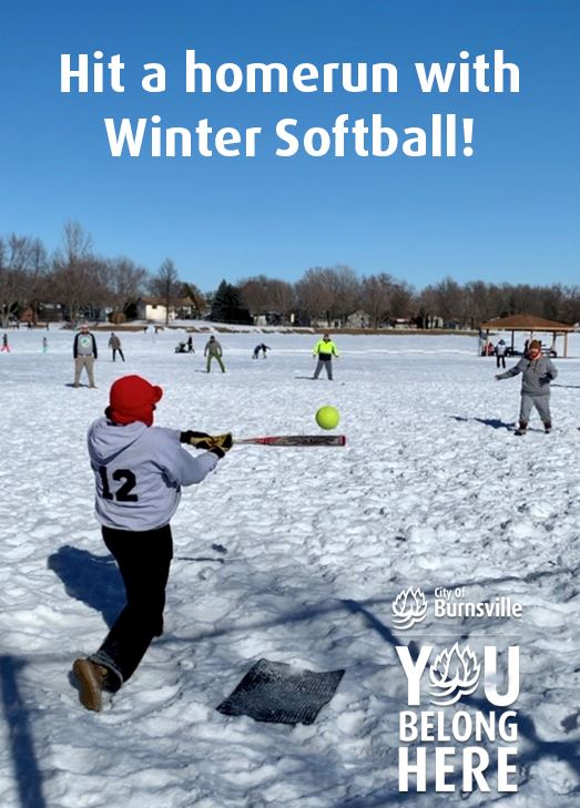 people playing softball in the winter