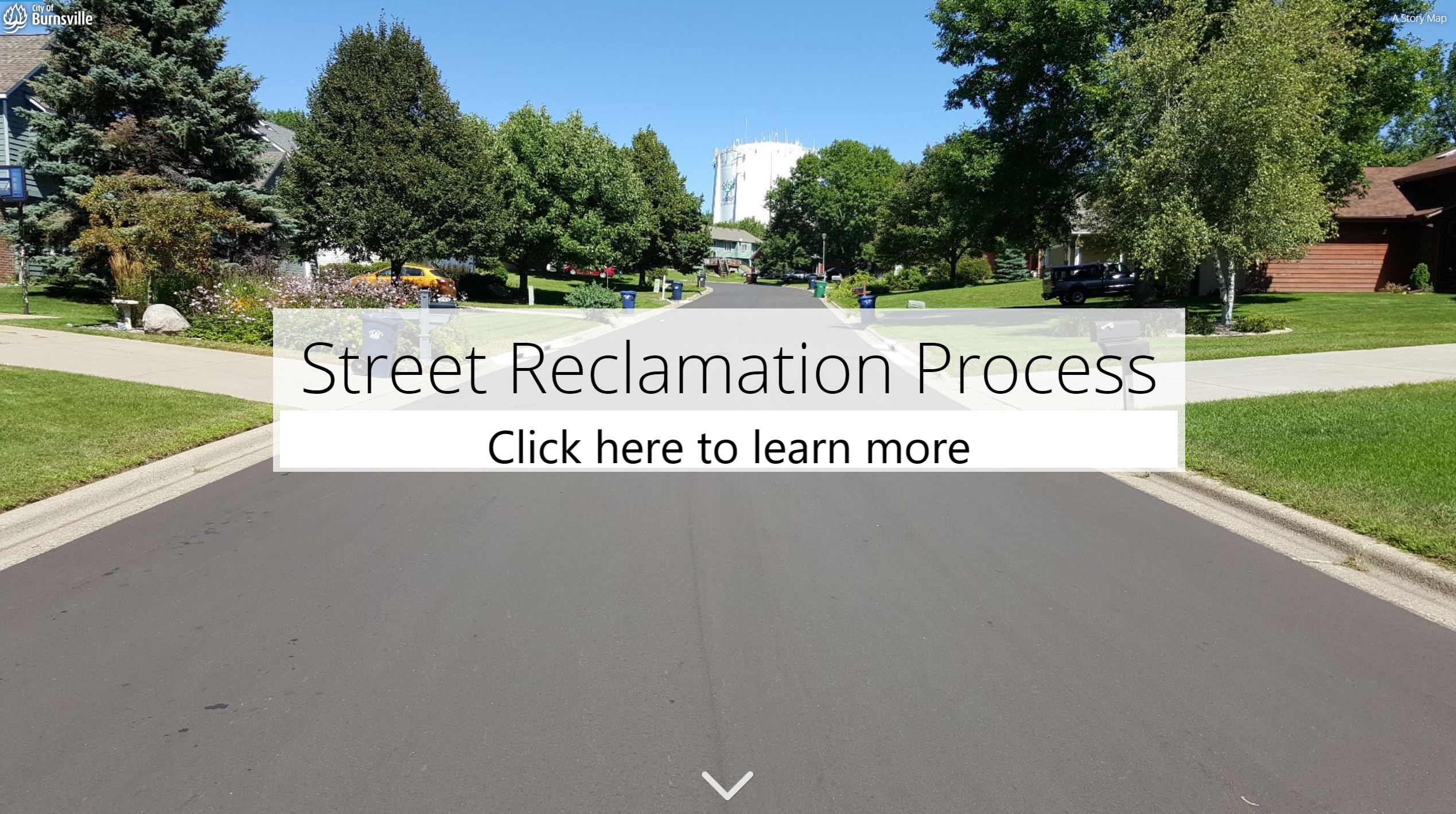 Click here to learn more about the street reclamation process Opens in new window