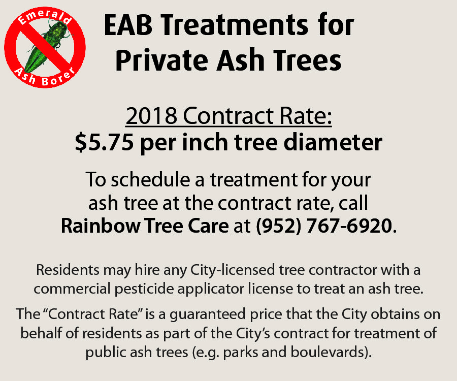 Treatment rate for private ash